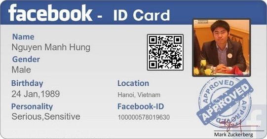 Facebook ID Card 02   Facebook   Facebook profile, Facebook