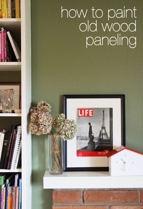 Vintage Wood Paneling: How To Paint Old Wood Paneling