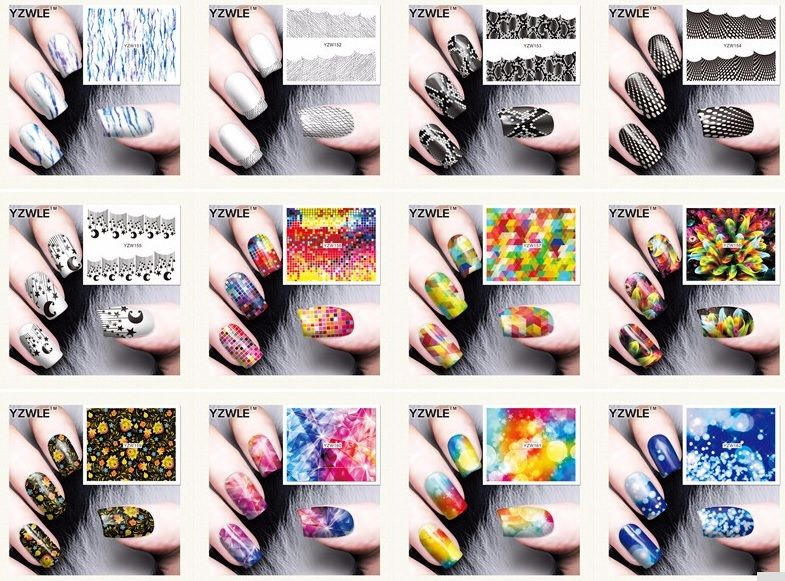 Стильные наклейки для ногтей от 5руб/лист -http://ali.pub/2aeln