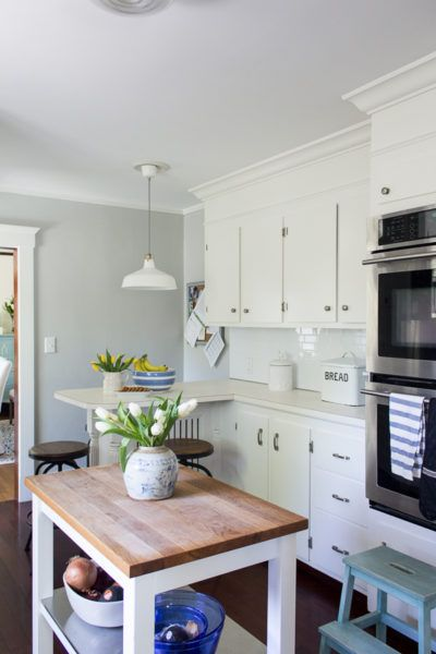 Bright White Cabinets | White cabinets, Bright and Kitchens