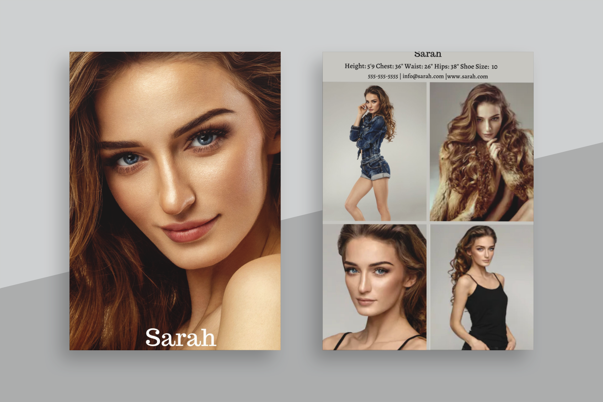 6 Modeling Comp Card Templates Vertical Fashion Canva Etsy Model Comp Card Card Model Model