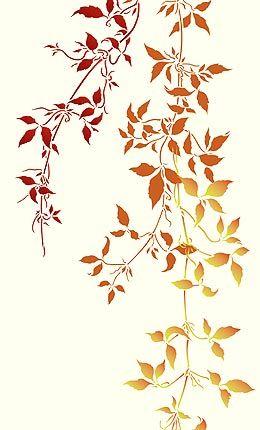Leaf Stencils Trailing Leaves Stencil Clematis Vines ...