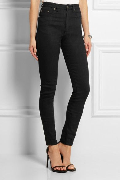 78a344e0117 SAINT LAURENT - High-rise skinny jeans | Fashion | Saint laurent ...