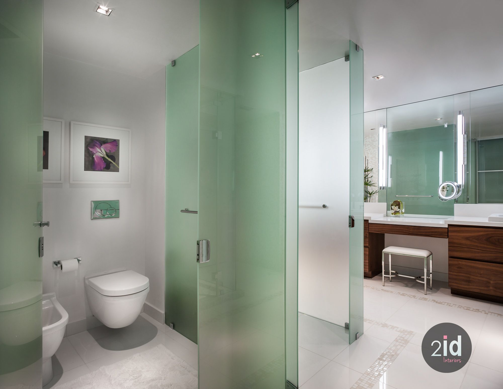 Master Bathroom Enclosed Toilet most beautiful master bathroom with frosted glass enclosed toilets
