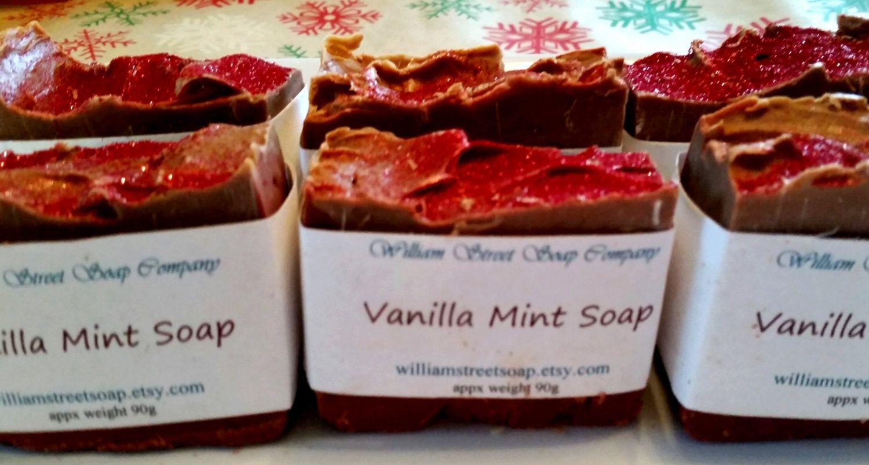 Vanilla Mint Soap by WilliamStreetSoap on Etsy