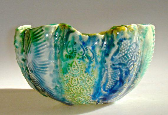 Decorative Ceramic Bowl Decorative Ceramic Bowl Pumpkin Bowl Art Bowl Aquaclayshapes