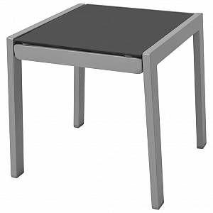 Photo of Chaises longues avec table Aluminium Noir