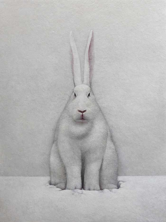 Shao Fan / White Hare / Oil on canvas