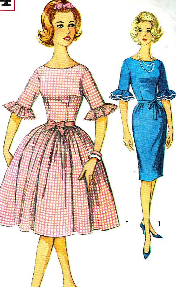 Vintage Sewing Pattern 1960s Simplicity 4254 Mad by paneenjerez ...