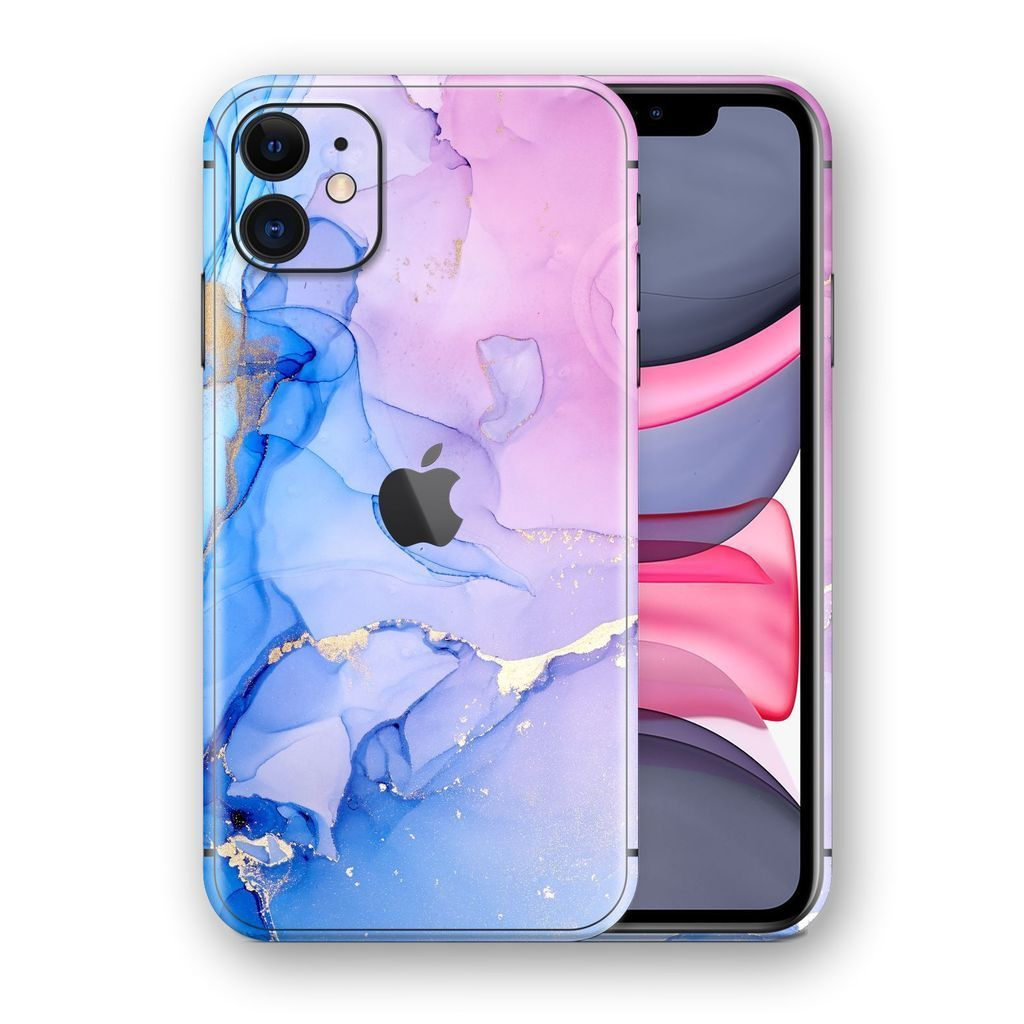 iPhone 11 SIGNATURE AGATE GEODE Pink-Blue Skin