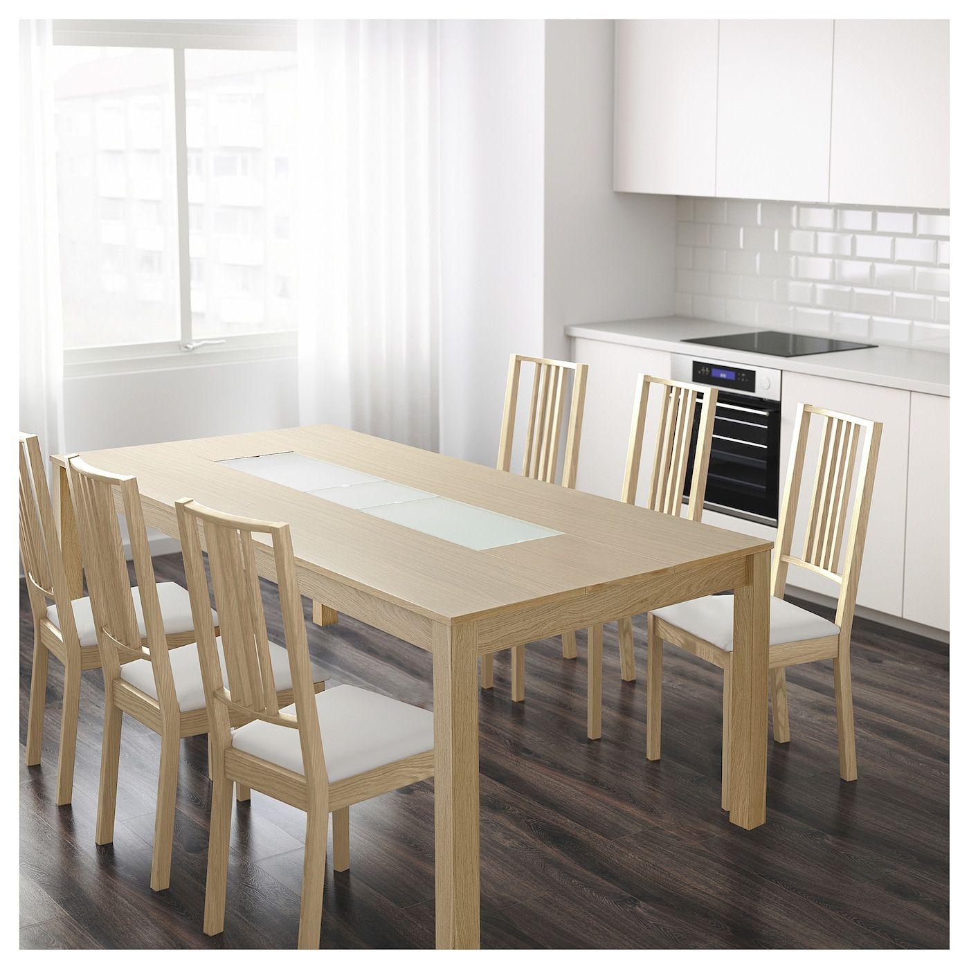 DJUV Table, eff chêne, verre. IKEA Canada   IKEA   Dining table ...