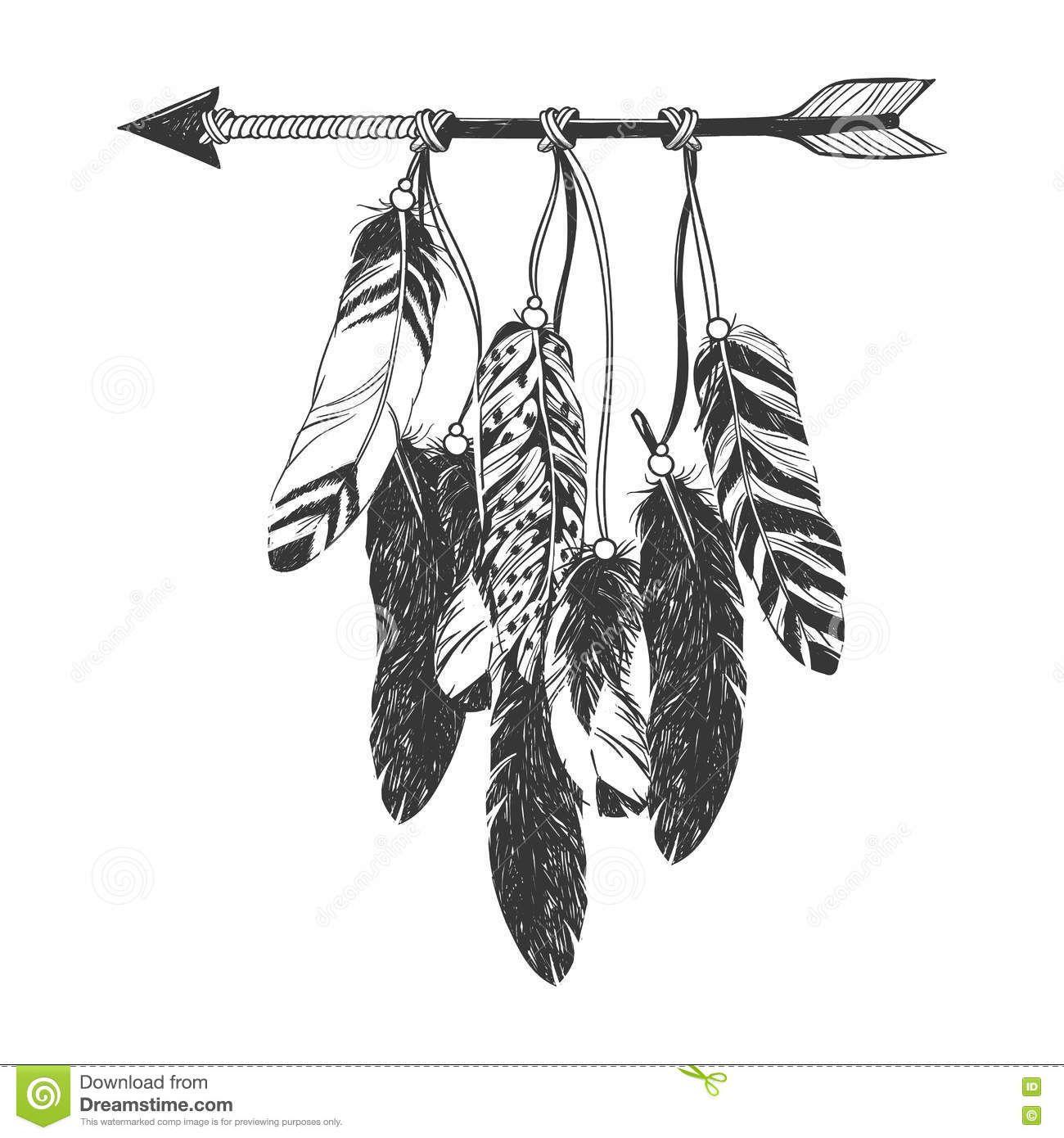nativeamericanindiandreamcatcherfeathersarrow