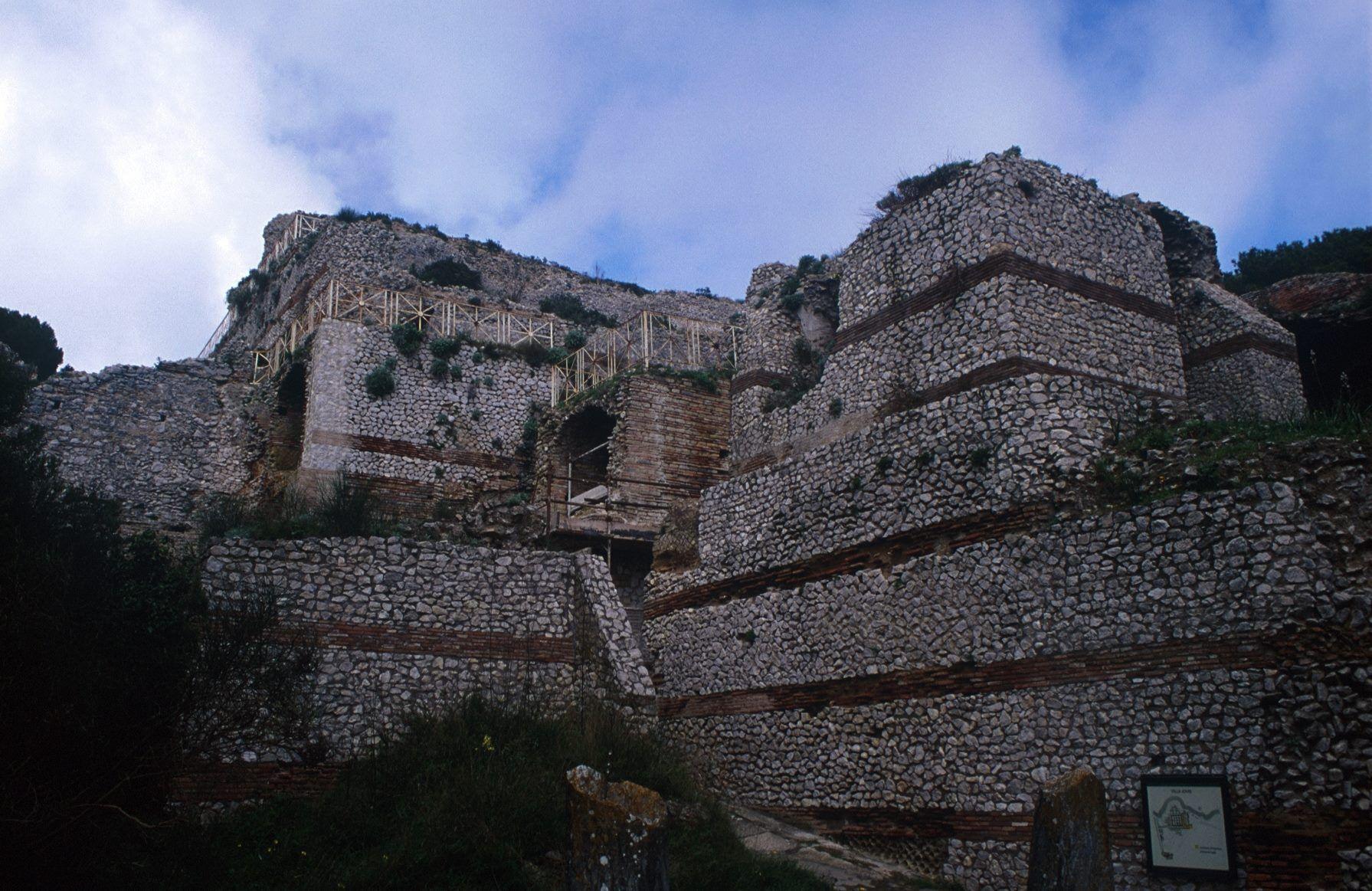 The Villa Jovis, Capri. 1st. century CE Isla de capri