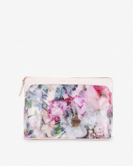 Small pure peony cosmetic bag - Dusky Pink | Gifts for Her | Ted Baker