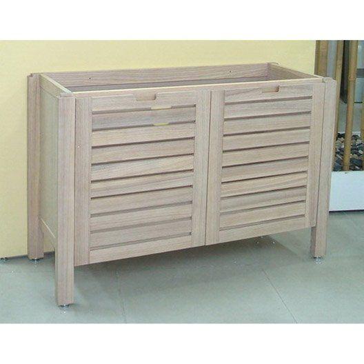 caisson meuble sous-vasque batik marron l119.5xh77.5xp45cm | deco