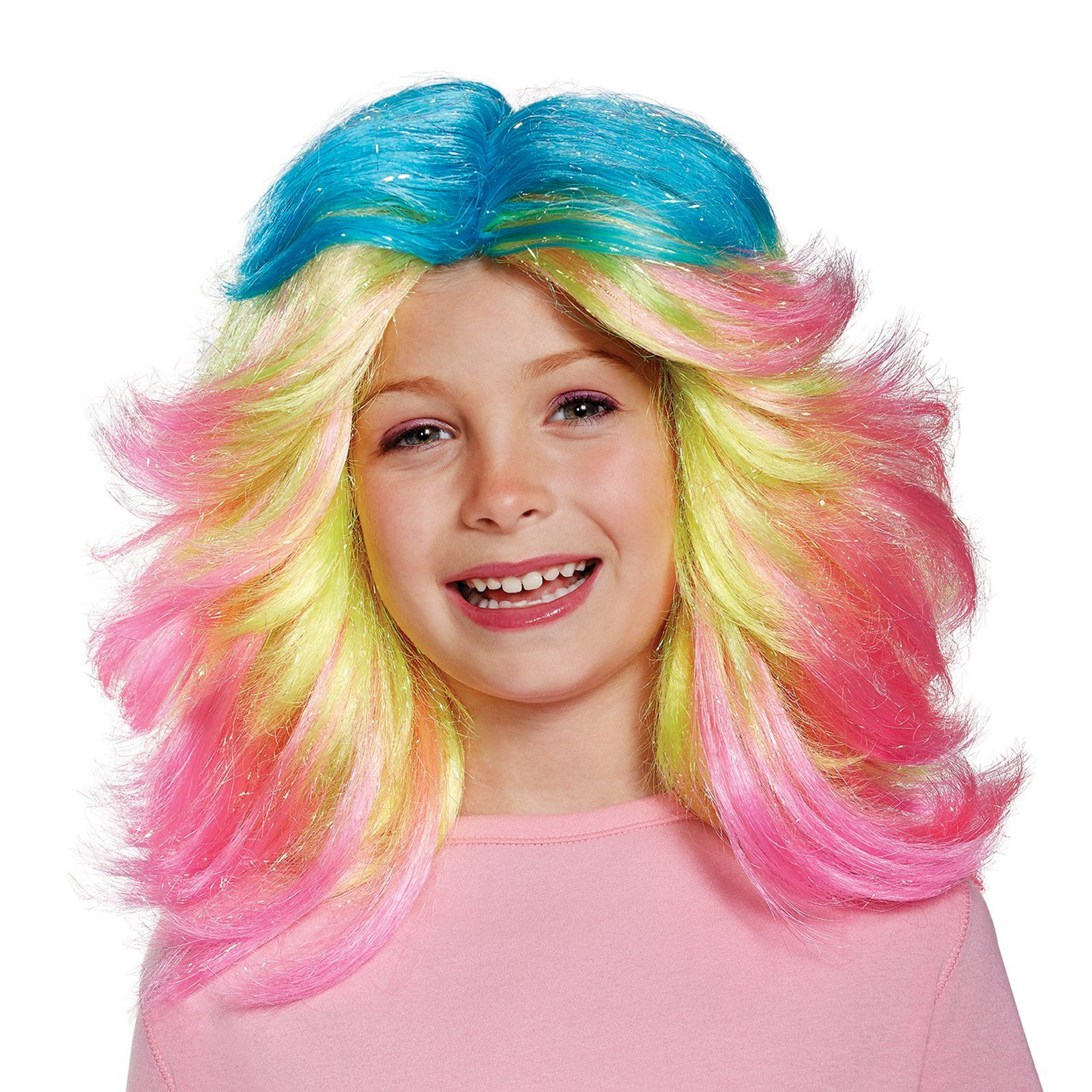 Trolls- Lady Glitter Sparkles Child Wig from Buycostumes.com  sc 1 st  Pinterest : wig costume  - Germanpascual.Com
