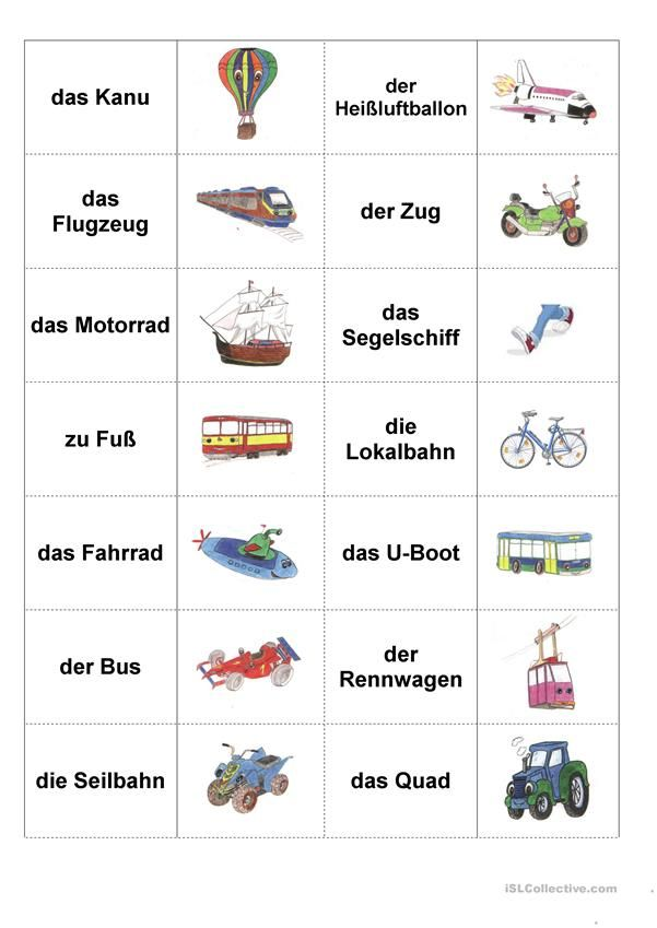 verkehrsmittel deutschunterricht deutsch german. Black Bedroom Furniture Sets. Home Design Ideas