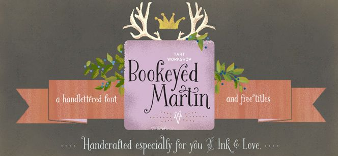 Bookeyed martin font by tart workshop a great partner for joyful bookeyed martin font by tart workshop a great partner for joyful vintage designs m4hsunfo