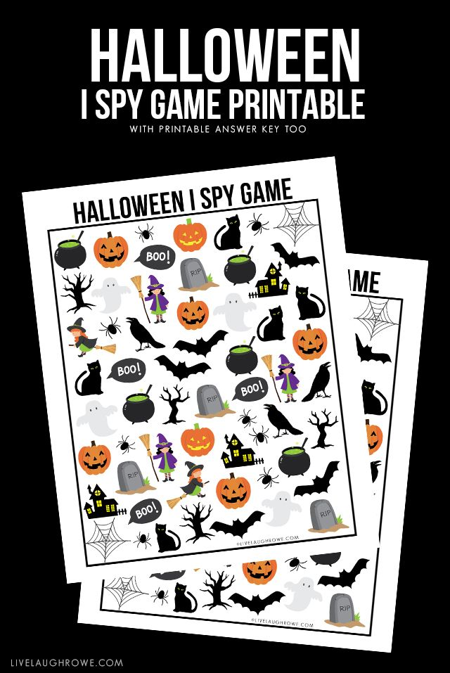Halloween I Spy Printable - for your Halloween Party - from ...