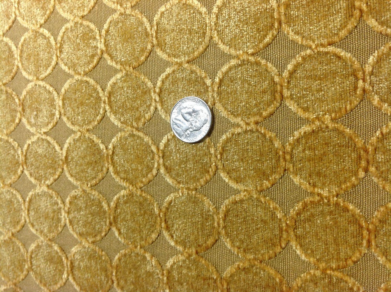 Gold Upholstery Fabric - Art Deco Circles Yard