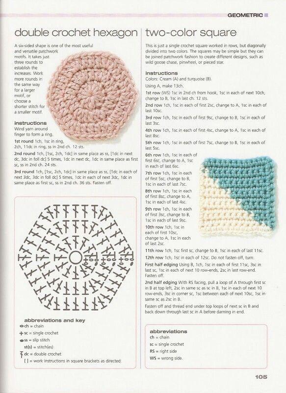 Hexágono relleno | візерунки | Pinterest | Crochet