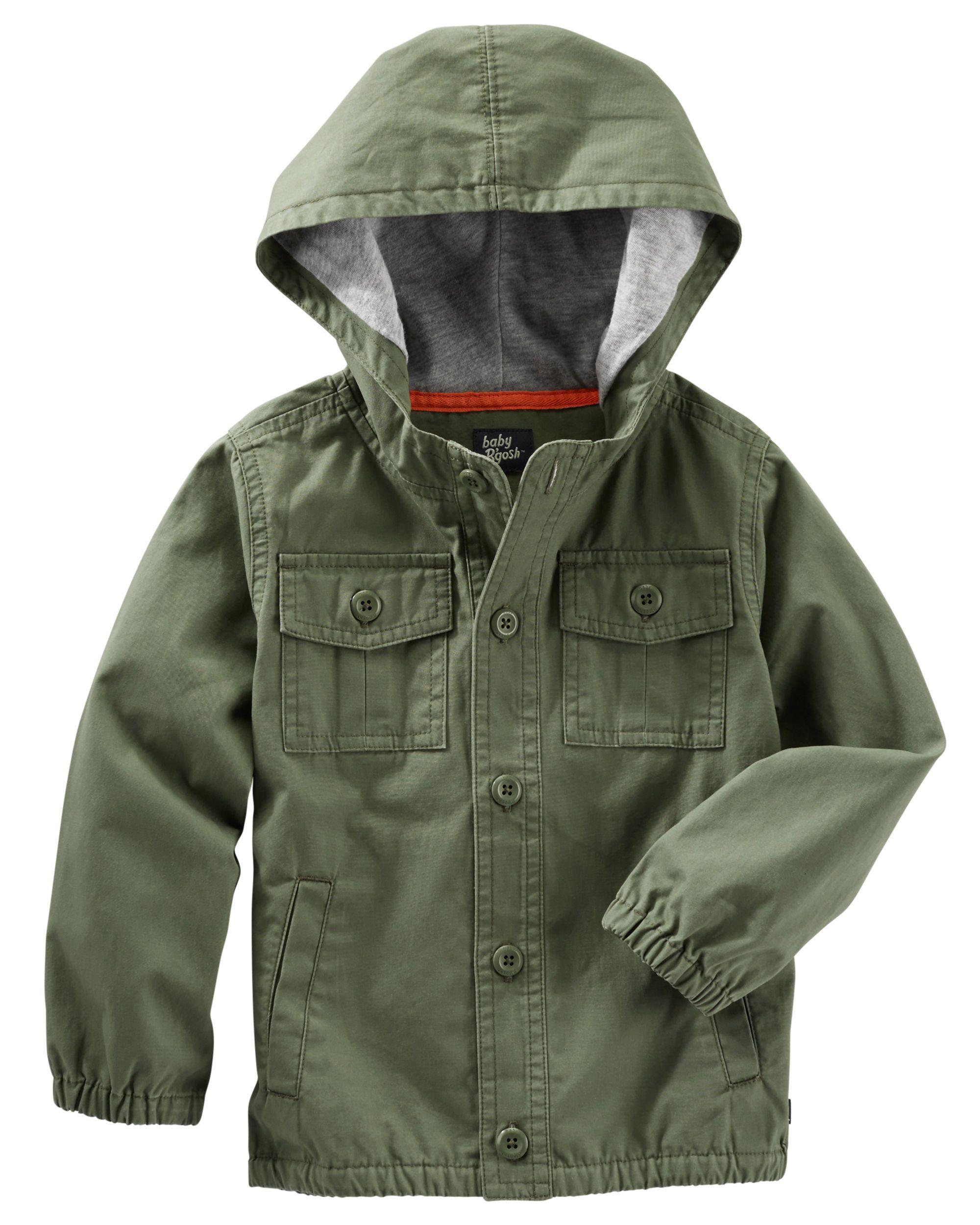 Hooded Utility Jacket Boy Outerwear Jackets Toddler Jacket [ 2500 x 2000 Pixel ]