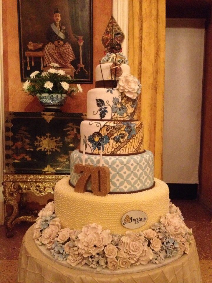 Batik birthday cake by Angies bakery Surabaya Indonesia
