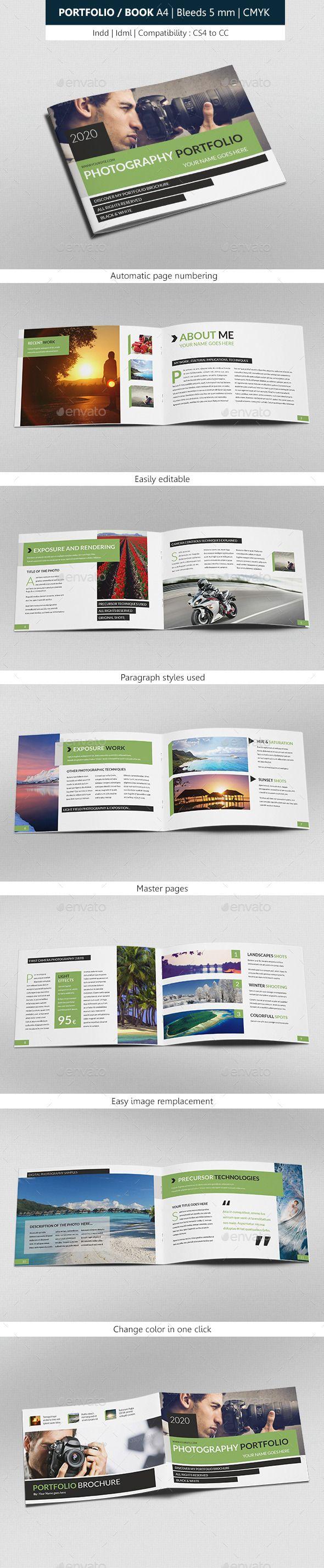 Portfolio & Book Photograph Indesign Template | Indesign templates ...