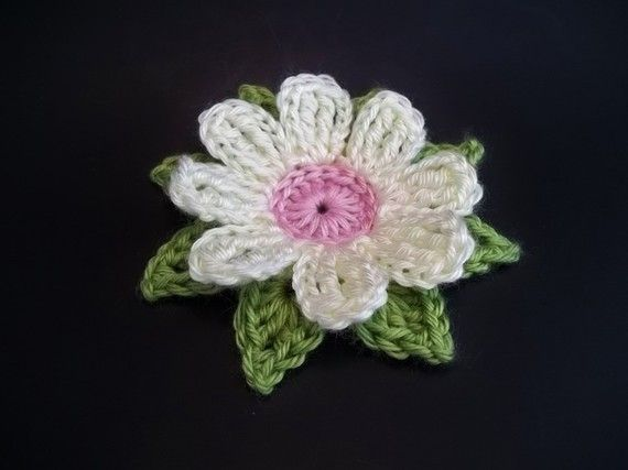 Gerbera Daisy Dukes Flower Crochet Pattern | Häckeln, Blumen häkeln ...