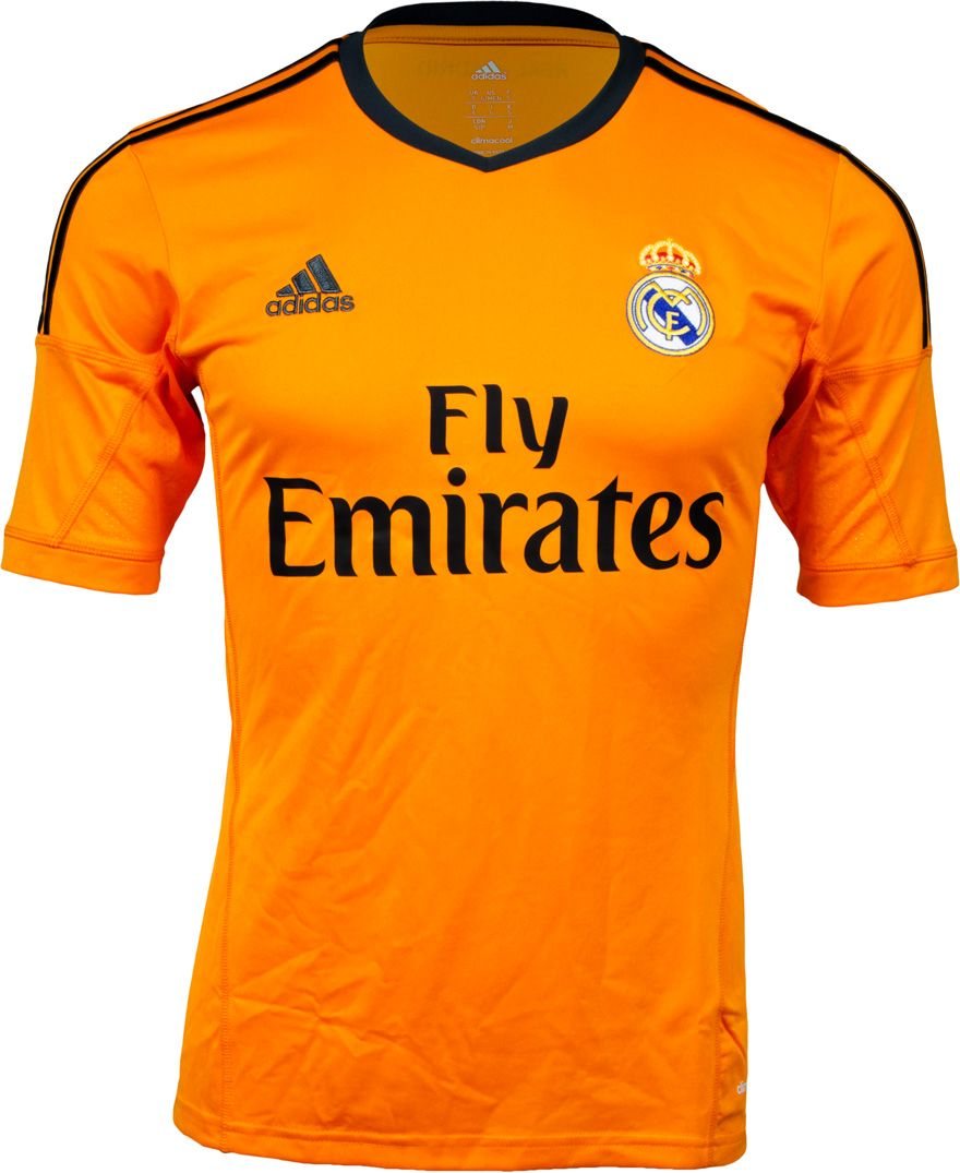 on sale dd095 e2275 adidas Real Madrid 3rd/Alternate Jersey 2013/14 - Orange ...