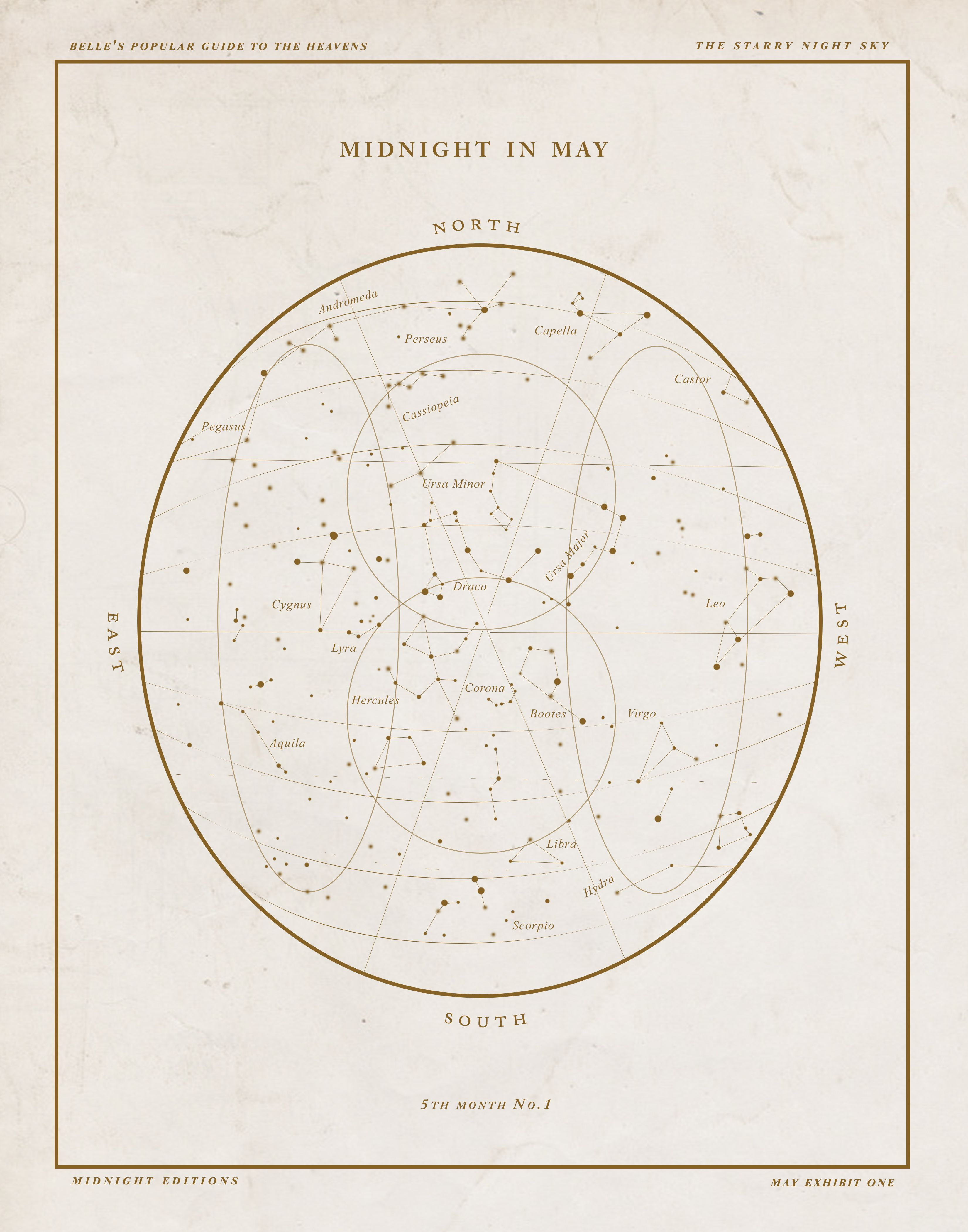 hight resolution of  midnight month star charts by belles and ghosts
