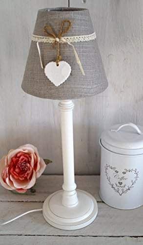 Lampe Tischlampe Nachttischlampe VINTAGE Shabby Chic