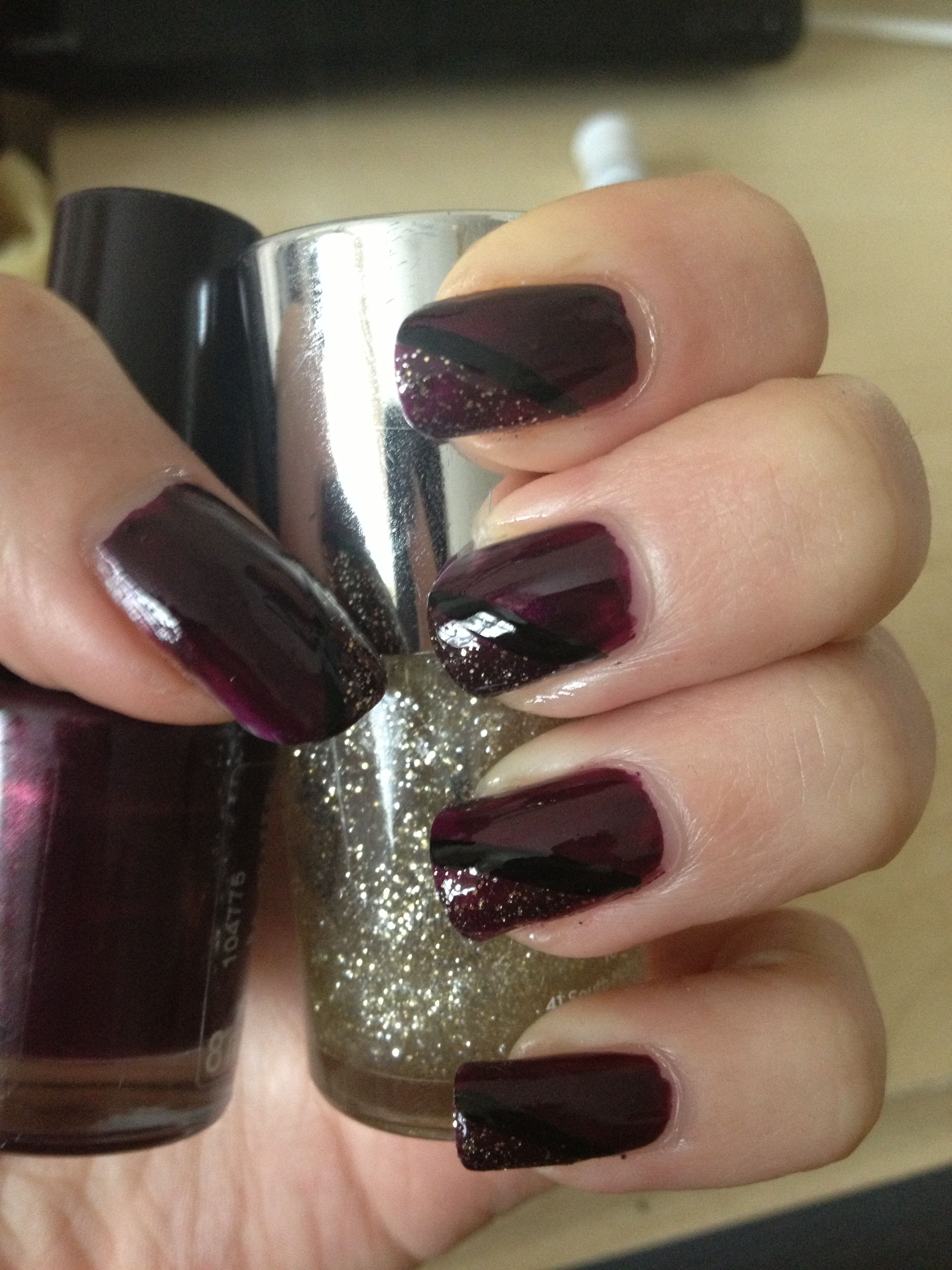 Dark nail design | Maquillaje | Pinterest | Dark nails and Dark nail art