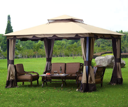 Wilson Fisher Monterey Gazebo 4 Panel Replacement Curtain Set 10 X 12 Big Lots Gazebo Outdoor Canopy Gazebo Gazebo Tent