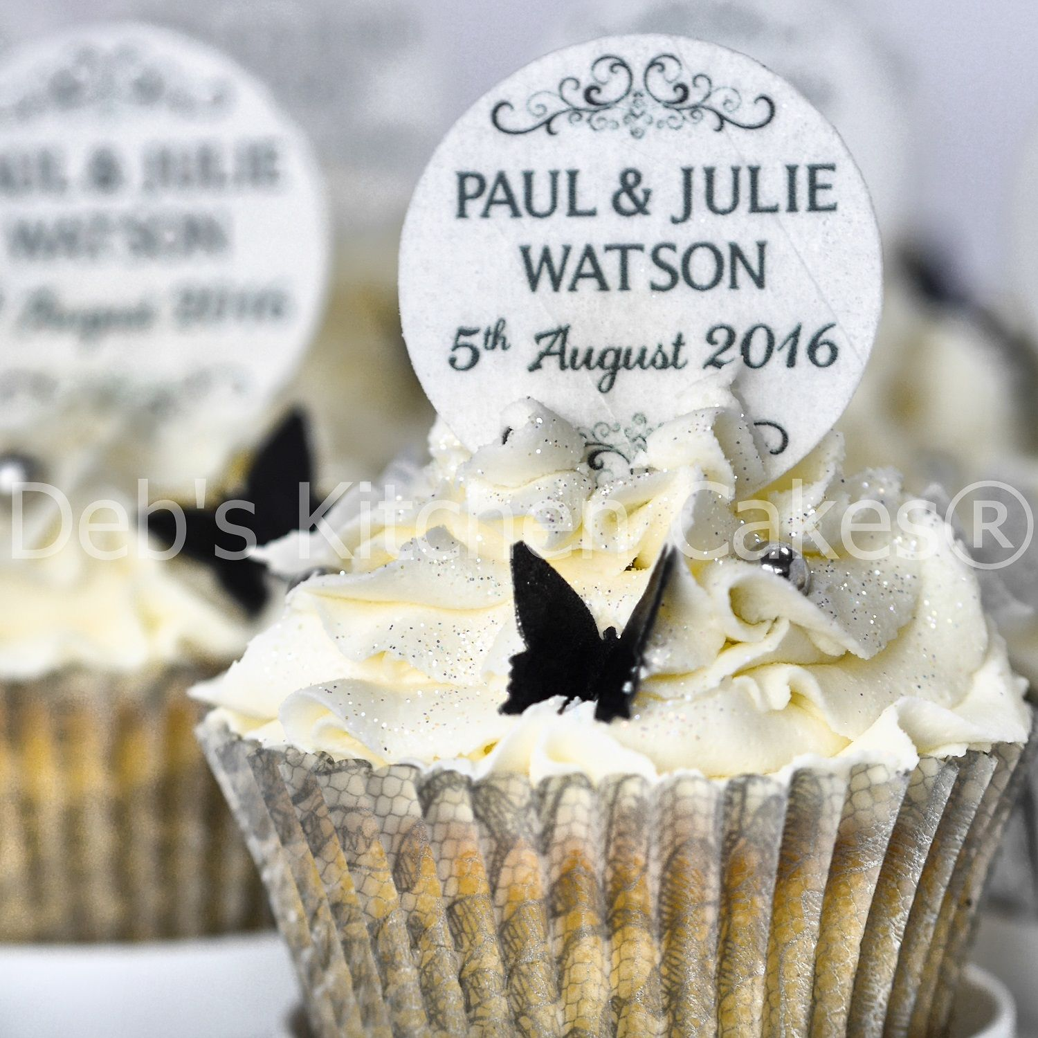 Personalised wedding cupcake toppers available at www personalised wedding cupcake toppers available at debskitchencakes junglespirit Images