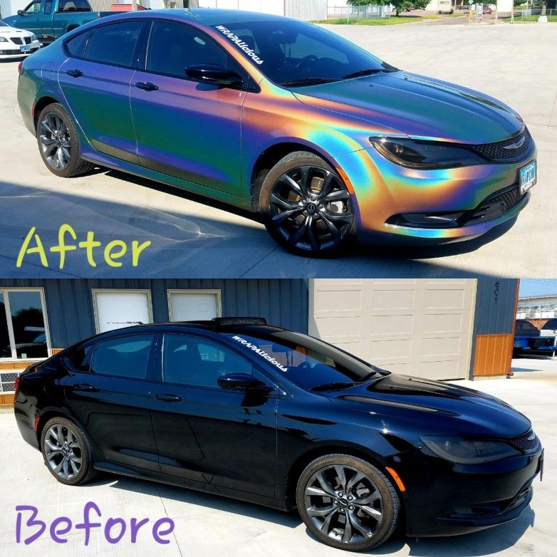 Before And After Of Chrysler 200 S Wrapped With 3m Vinyl Vinyl