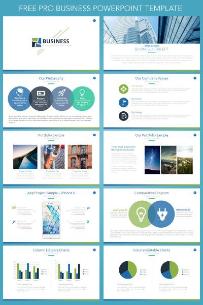 free business presentation powerpoint template | business, Modern powerpoint
