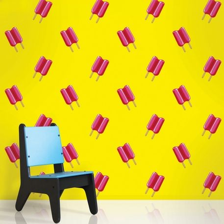Twin Pops Yellow/Pink Reusable Wall Paper