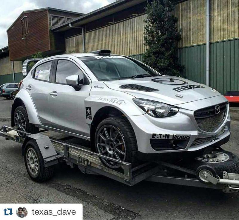 Open class AWD Mazda 2 Rally Car! | Fantasías de rally | Pinterest ...