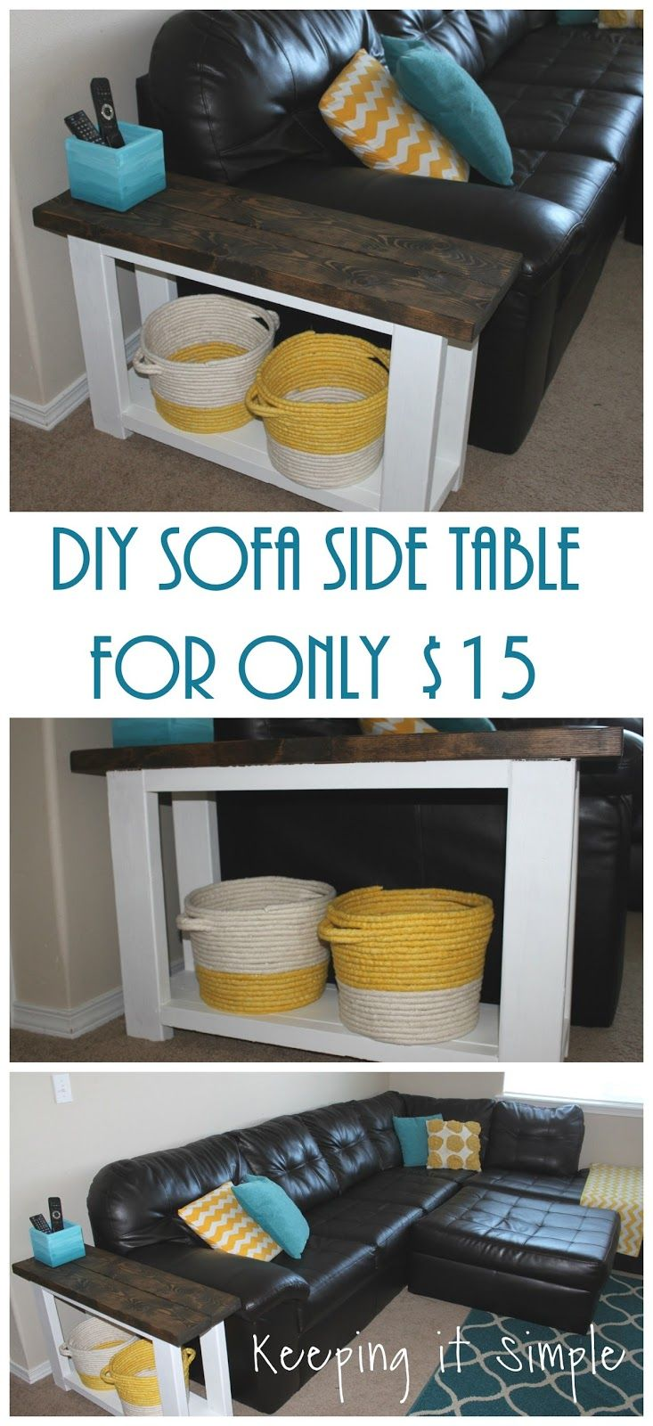 How To Build A DIY Sofa Side Table For About 15 Dollars! Step By Step
