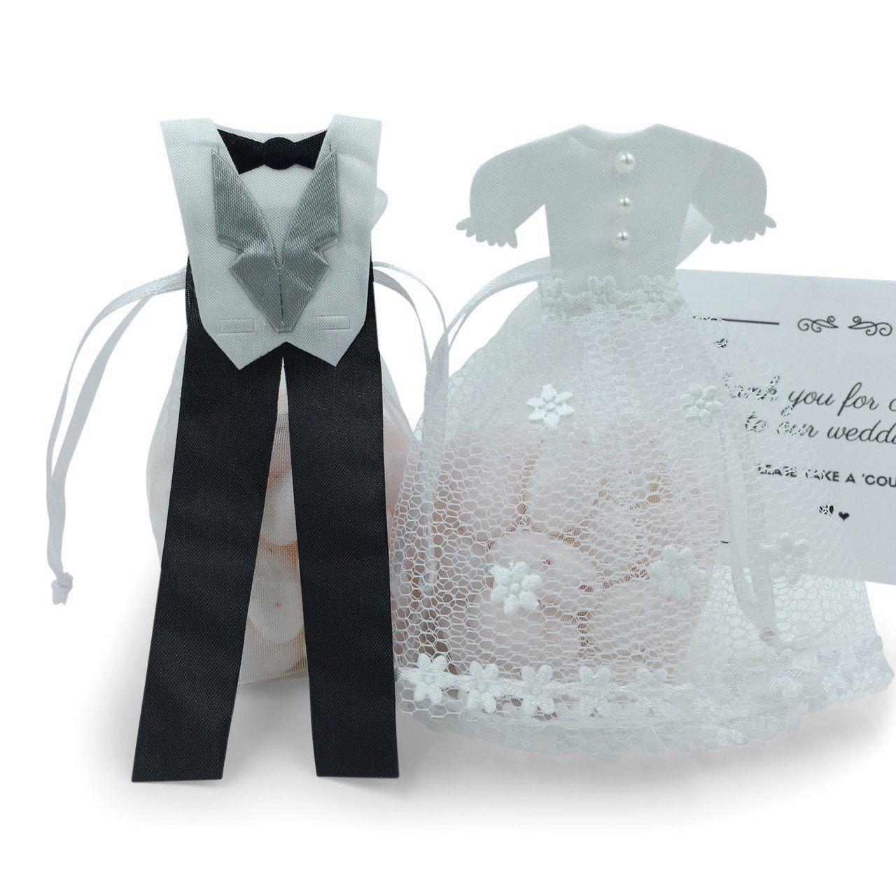 Bride & Groom Wedding Favor Bags - Thank You Gifts, 24 pcs   Wedding ...
