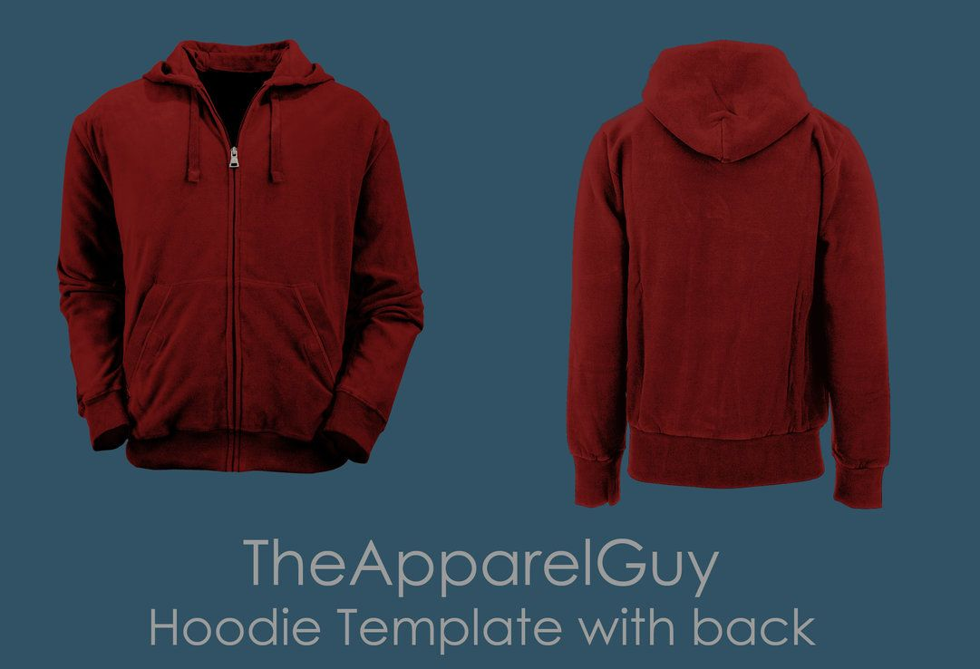 Hoodie Template with Back by TheApparelGuy | Mockups & templates ...