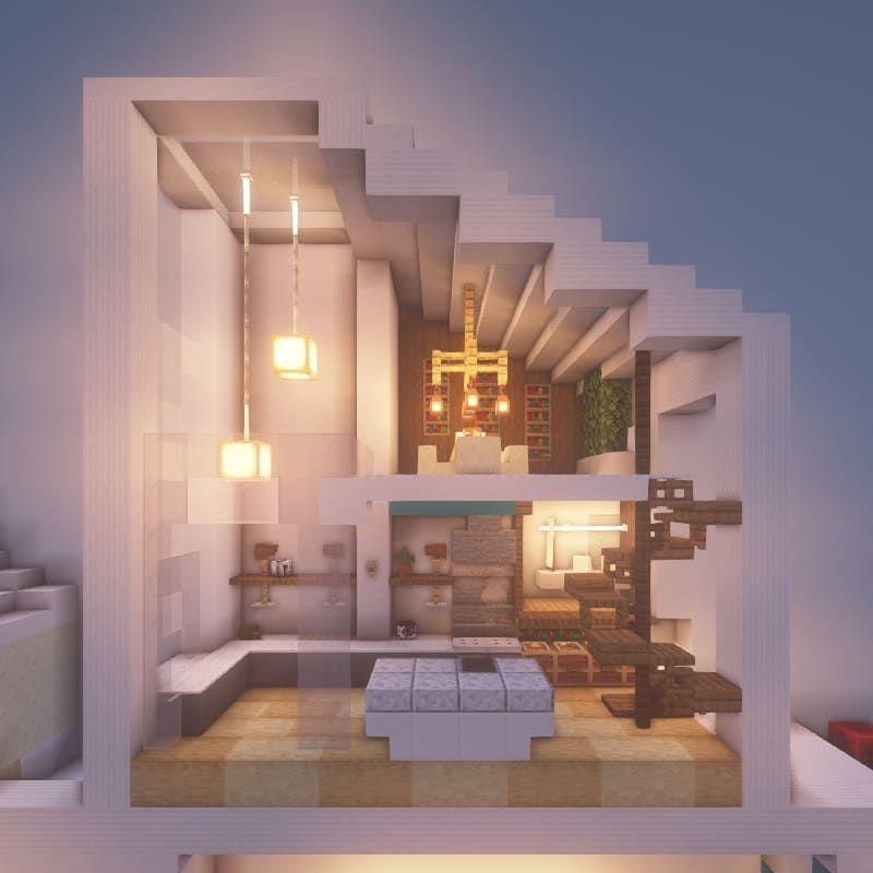 Aesthetic Living Room Ideas Minecraft Homyracks