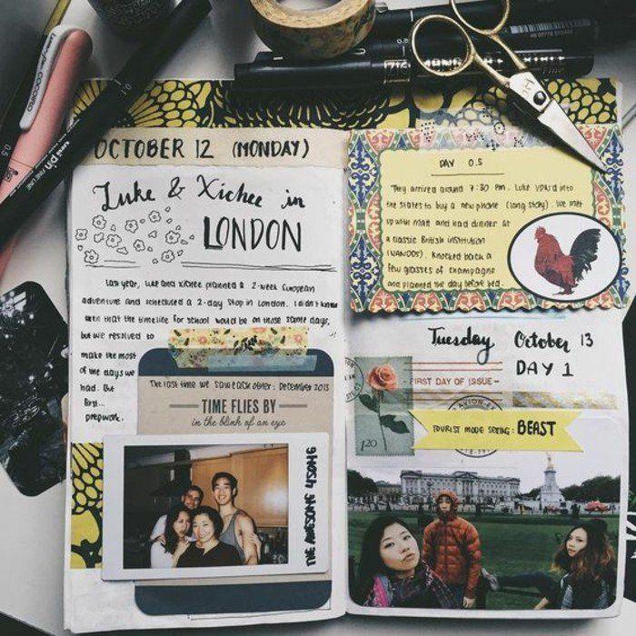 comment faire un carnet de voyage id es inspirantes en 60 photos journal bullet journals and. Black Bedroom Furniture Sets. Home Design Ideas