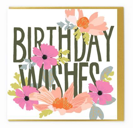 Birthday wishes card from noi publishing lettering floral fem birthday wishes card from noi publishing lettering floral fem birthday greeting card design m4hsunfo