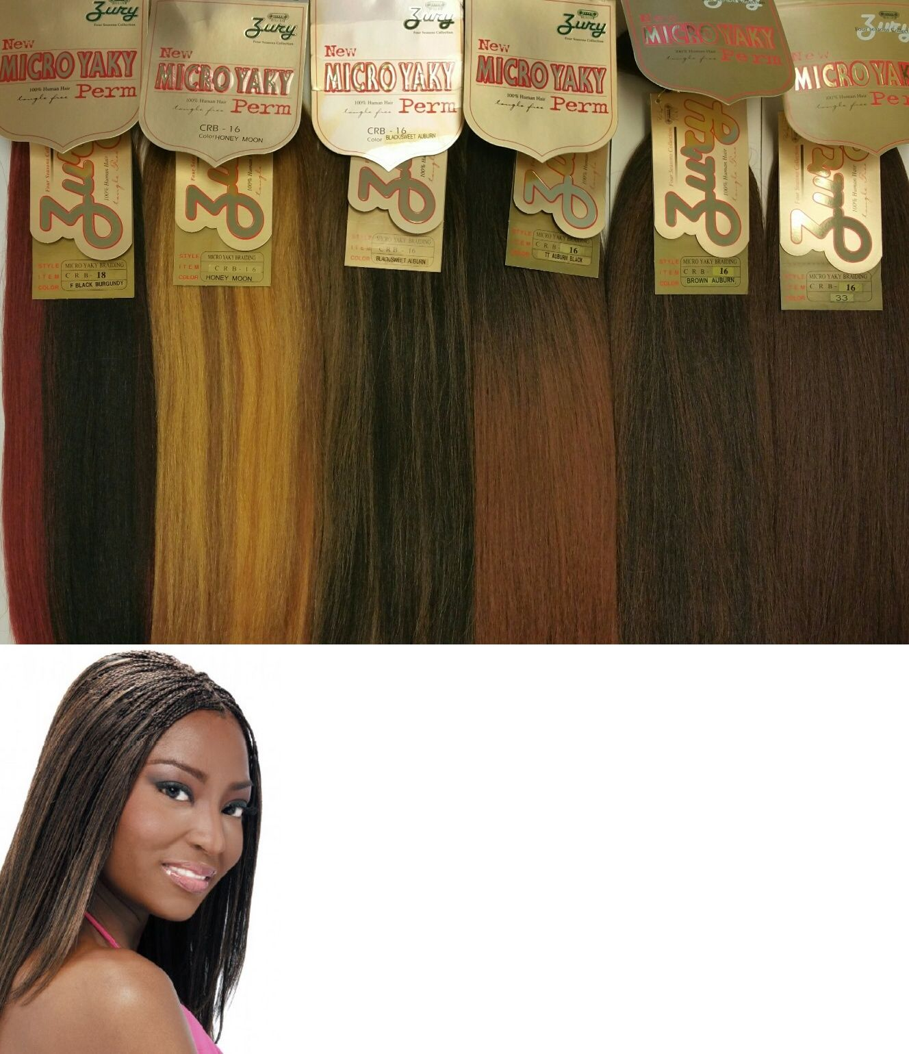 Hair extensions zury human hair for braiding micro yaky perm