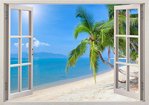 sunny day home office. Huge Sunny Day At The Beach Ocean Sea Scape View Home Office Kitchen Kids Nursery Room