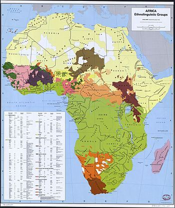 Africa Ethnic Group Map
