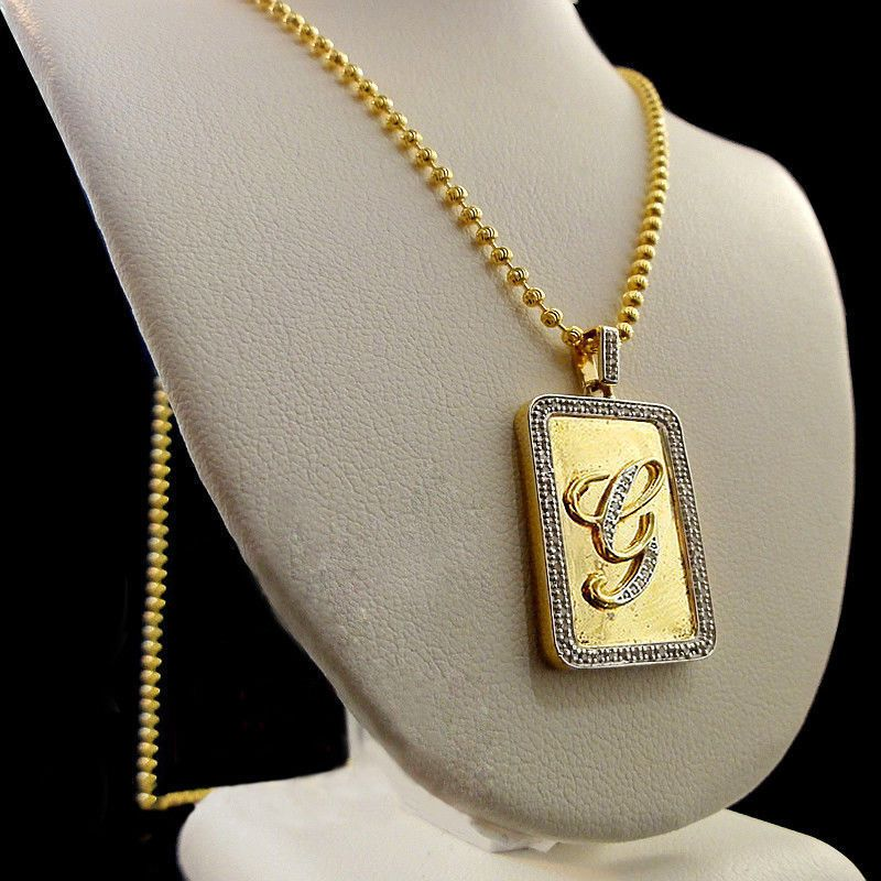 Solid 10k Yellow Gold Bull Head Pendant Necklace
