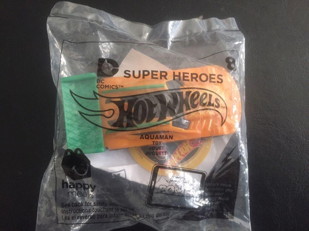 Aquaman Super Heroes Mcdonald S Happy Meal Hot Wheels Sealed Dc Comics New Hotwheels Racecar Happy Meal Mcdonalds Happy Meal Hot Wheels